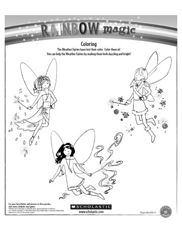 coloring pages rainbow fairies | Coloring Printable Sheets at Scholastic.com | Magic School ...