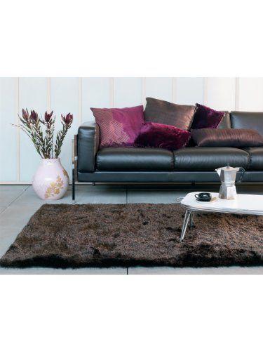 Benuta Whisper Shaggy Hochflor-Teppich   Langflor-Teppich in Dunkelbraun f�r Schlafzimmer und Wohnzimmer   160x230 cm