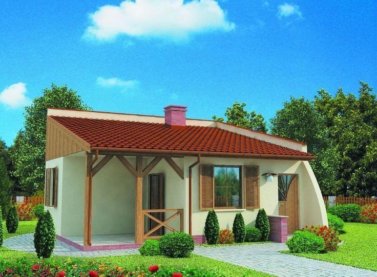 Projekt domu PT Lublana SZKIELET DREWNIANY LETNISKOWY - DOM PT9-47 - gotowy projekt domu