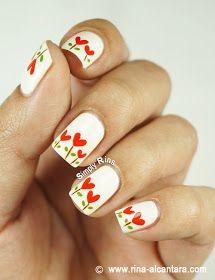 Planted Hearts Nail Art Design