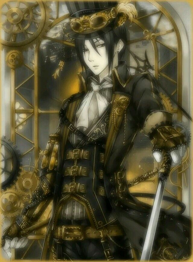 Sebastian and steam punk means perfection