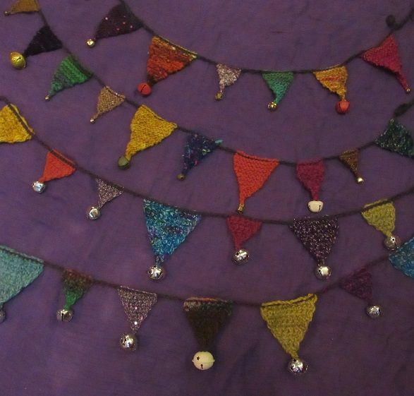 Crochet Bunting Knitted Bunting How To Crochet Classes With Lea Williams, Beginner's Crochet Workshops Wales UK Crafty Holidays #HowToCrochet #CrochetClasses #CrochetHolidays #CraftClasses #FiberArt #CrochetWorkshops #HowToKnit #KnittingClasses