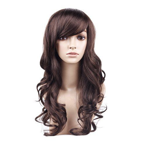 11 best beauty hair extensions wigs images on pinterest wig beauty cute long brown wavy curly synthetic hair party wigwig for women long dark brown by maysu 1600 fiber synthetic high quality synthetic pmusecretfo Gallery