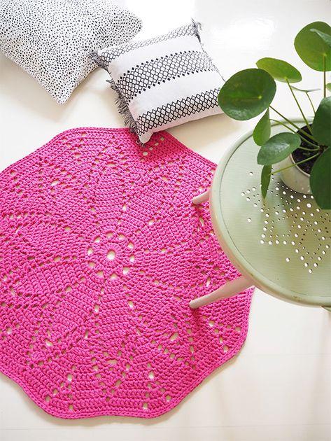 Virkattu matto Novita Eco Tube | Novita knits