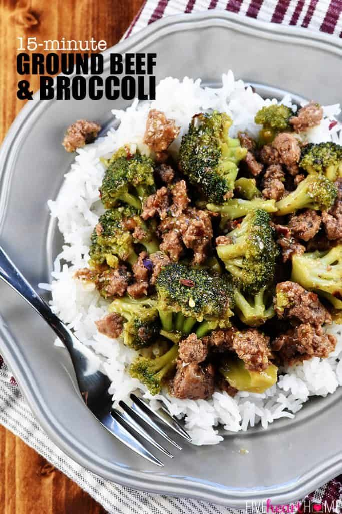 Ground Beef And Broccoli A Healthy Quick And Easy Skillet Recipe That Comes Dinner With Ground Beef Ground Beef Recipes Easy Healthy Hamburger Meat Recipes