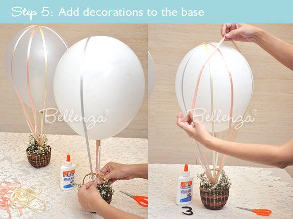 How to Make a Hot Air Balloon Centerpiece for wizard of oz party #howtomakeweddingcenterpieces