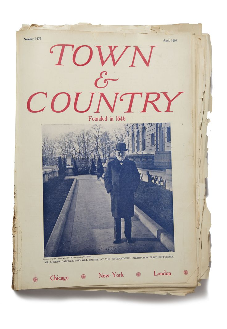 Scottish - American Gilded Age industrialist/ steel magnate, Andrew Carnegie, (1835-1919). Pictured on the cover of Town & Country Magazine, April c.1907. ~ {cwl} ~ (Image: Town & Country Magazine)