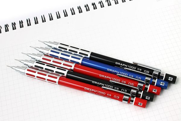 Pentel Graph 1000cs Mechanical Darfting Pencil 0.5mm Red PG1005CS-B