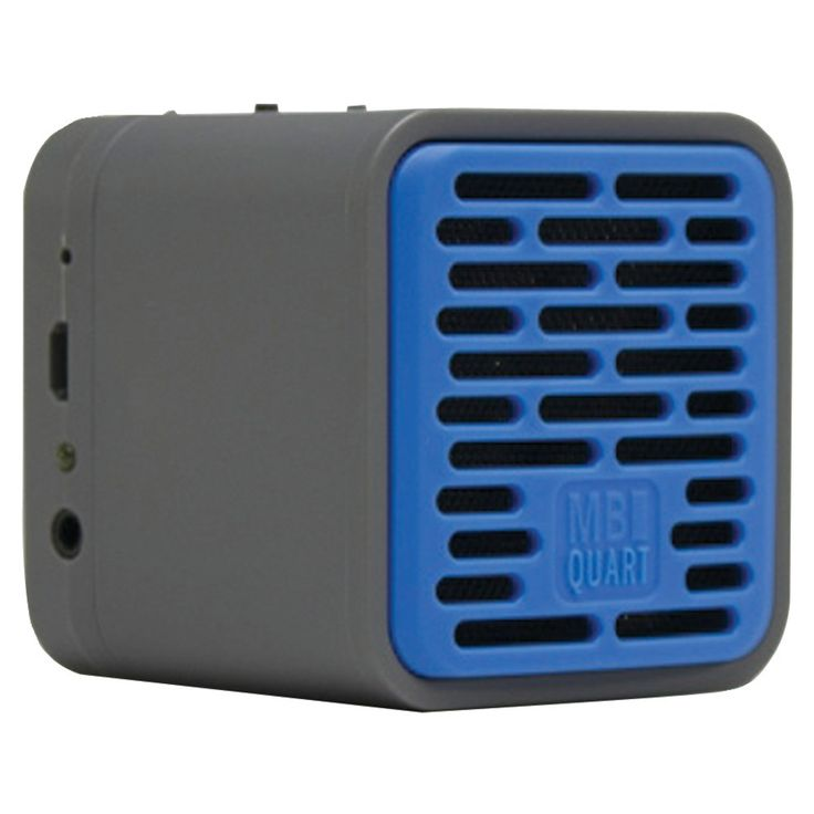 Mb Quart Single-driver Bluetooth Speaker (gray Body & Blue Grille)
