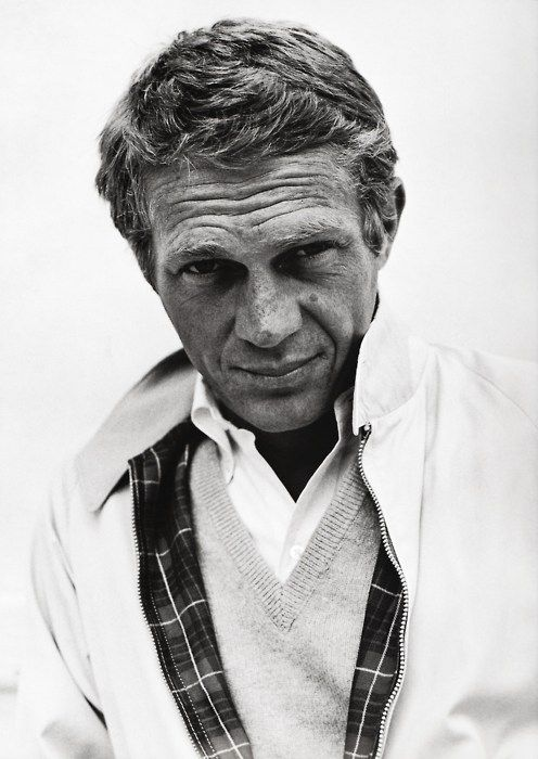 Steve McQueen. don't care where you're from: a handsome devil. see more pics of him with cigs in his mouth though. with he never did that, somehow i bet he does too.