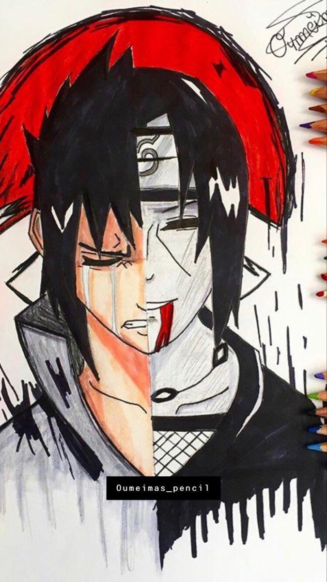 Sasuke And Itachi Drawing Naruto Painting Naruto Sketch Sasuke And Itachi