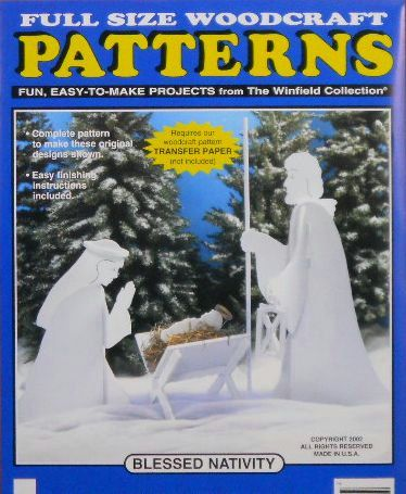 Blessed Nativity Wood Craft Pattern. $15.95, via Etsy.