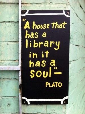 Book library quote by Plato. #books #library #Plato