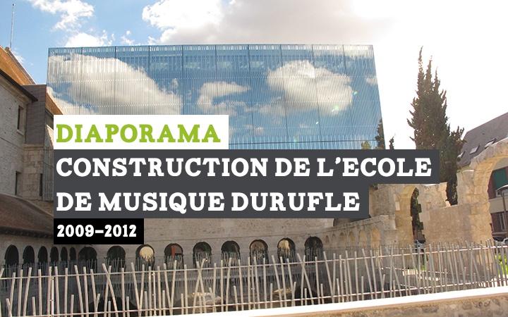 Diaporama retraçant la construction de l'école de musique de Louviers.