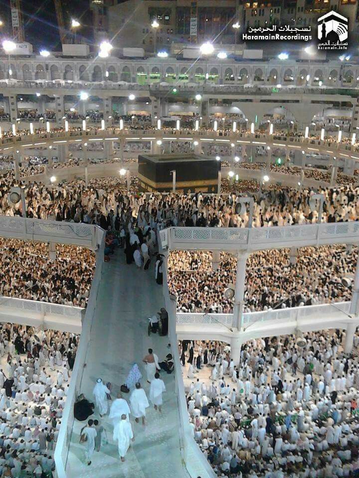 An amazing view of the crowded mataaf # Mecca