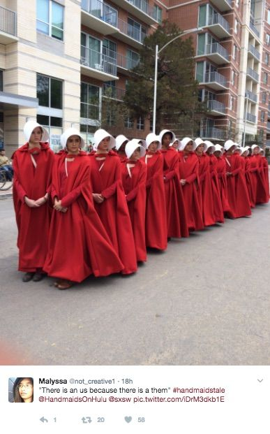 Hulu's adaptation of Margaret Atwood's dystopian novel the Handmaid's Tale is coming out on April 26th. And this weekend, at SXSW, Hulu pulled a ...