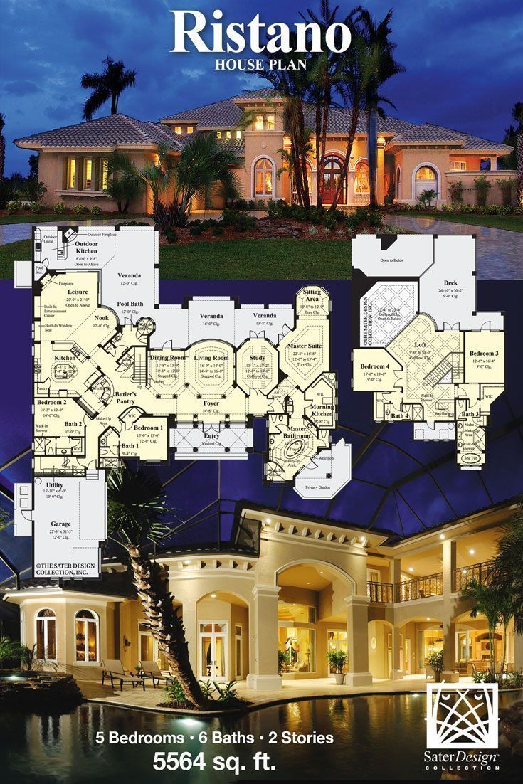 The Sater Design Collection the ristano house plan | sater design collection #homeplans