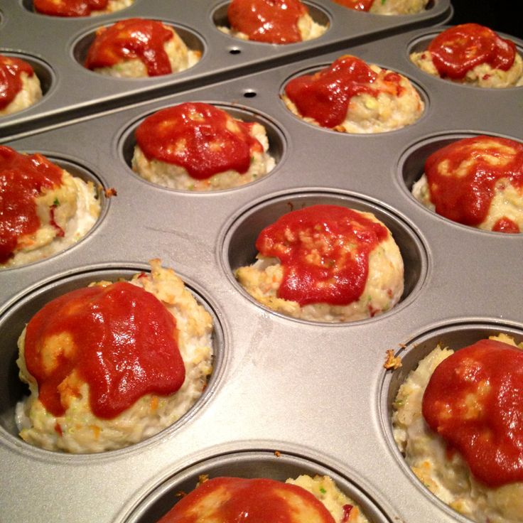 Approximately 110 calories each! Low-cal Mini Turkey Meatloaves With Chipotle Gl