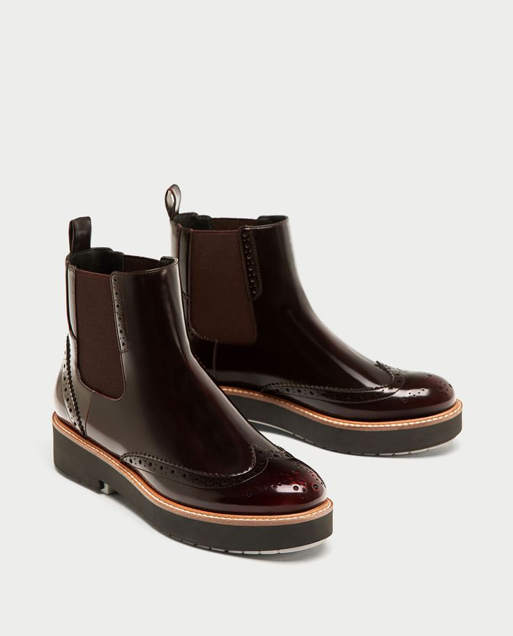 FLAT ANKLE BOOTS WITH ELASTIC SIDE TABS-View all-SHOES-WOMAN | ZARA