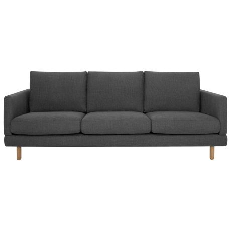 Bonnie 3 Seat Sofa River Charcoal.   Fusing considered design and attention to detail, Freedom's Bonnie sofa captures a timeless look that also incorporates comfort. Featuring a pinched stitch detail on the arms and cushion backs, these are just a hint of the sofa's appeal. Solid oak legs weave in the on-trend look to its contemporary design and give it a sturdy base.  http://www.freedom.com.au/furniture/sofas/fabric-sofas-modulars/23527935/bonnie-3-seat-sofa-river-charcoal/