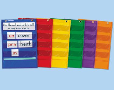 #BacktoSchool // Learning Center Pocket Charts - Set of 6 at Lakeshore Learning