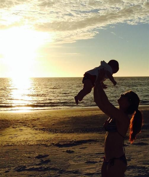 """Emme's first day at the beach"" --JoAnna Garcia, who must have just watched ""The Lion King"""