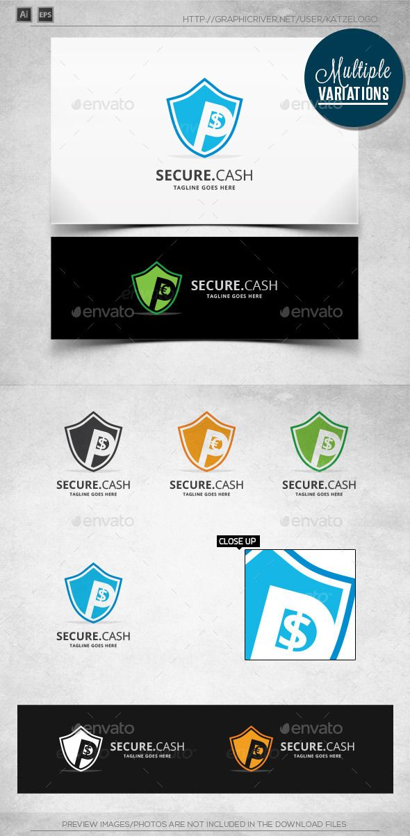 Cash Safe - Logo Template