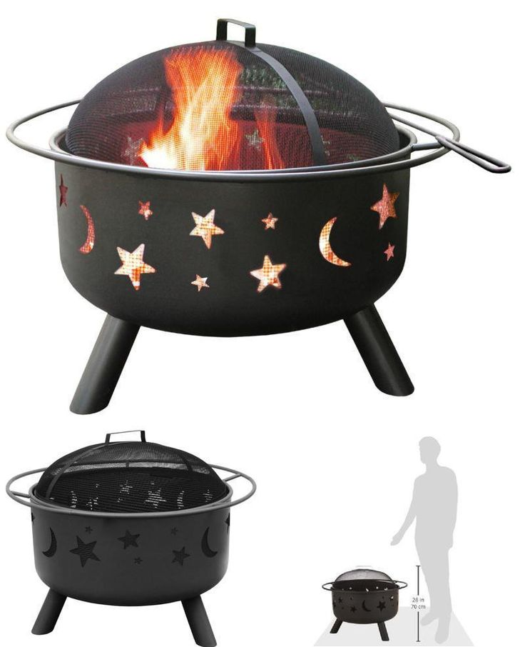 Patio Heater Wood Burning Fire Pit With Stars and Moons Outdoor Patio Fire Pit #Landmann #fire,#pit,#garden,#yard,#patio,#set,#bbq,#outdoor,#wood,#burning,#bowl,#screen,#protector
