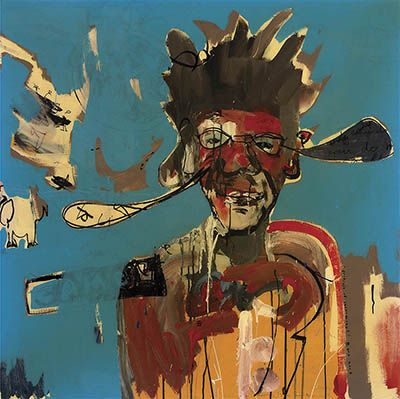 Artist : ANTHONY BENNETT Portrait of Jean-Michel $3,000 - 5,000