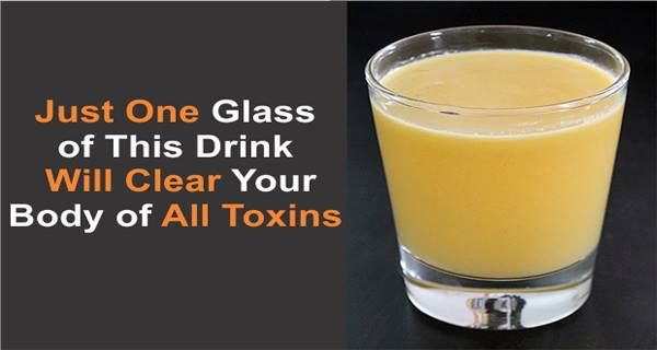 Just One Glass of This Drink Will Clear Your Body of All Toxins - Healthy Food House