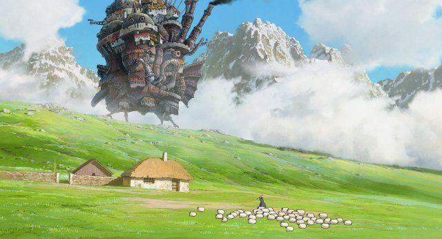 """""""Hauru no ugoku shiro"""" (2004), director: Hayao Miyazaki."""