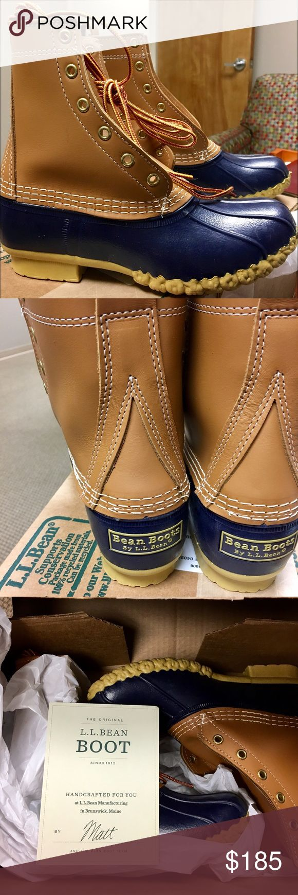 "NWT L.L. Bean Boots Women's 8"". Navy, Sz. 6 Sold out online. I purchased as a Christmas gift but unfortunately they are not the correct size. L.L. Bean Shoes"