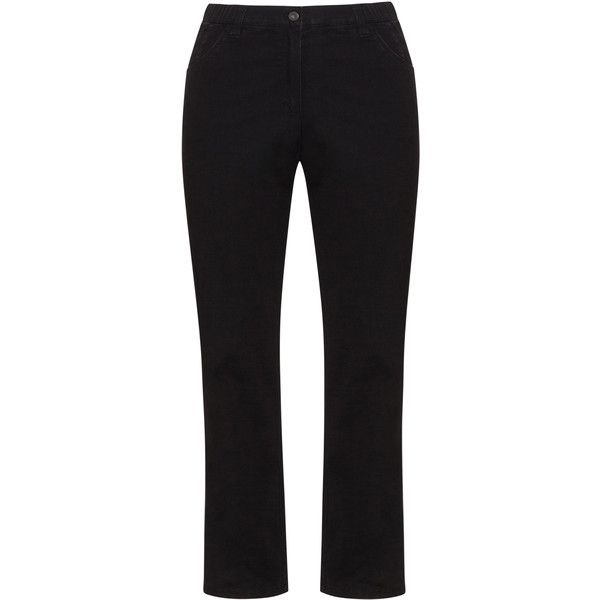 Kj Brand Black Plus Size Straight cut jeans ($105) ❤ liked on Polyvore featuring jeans, black, plus size, high waisted jeans, women's plus size jeans, high rise straight leg jeans, plus size jeans and high waisted straight leg jeans