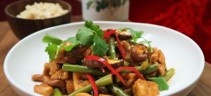 Vegan roerbak tofu in Thaise chilisaus van Restaurant Jasmijn & ik in Utrecht