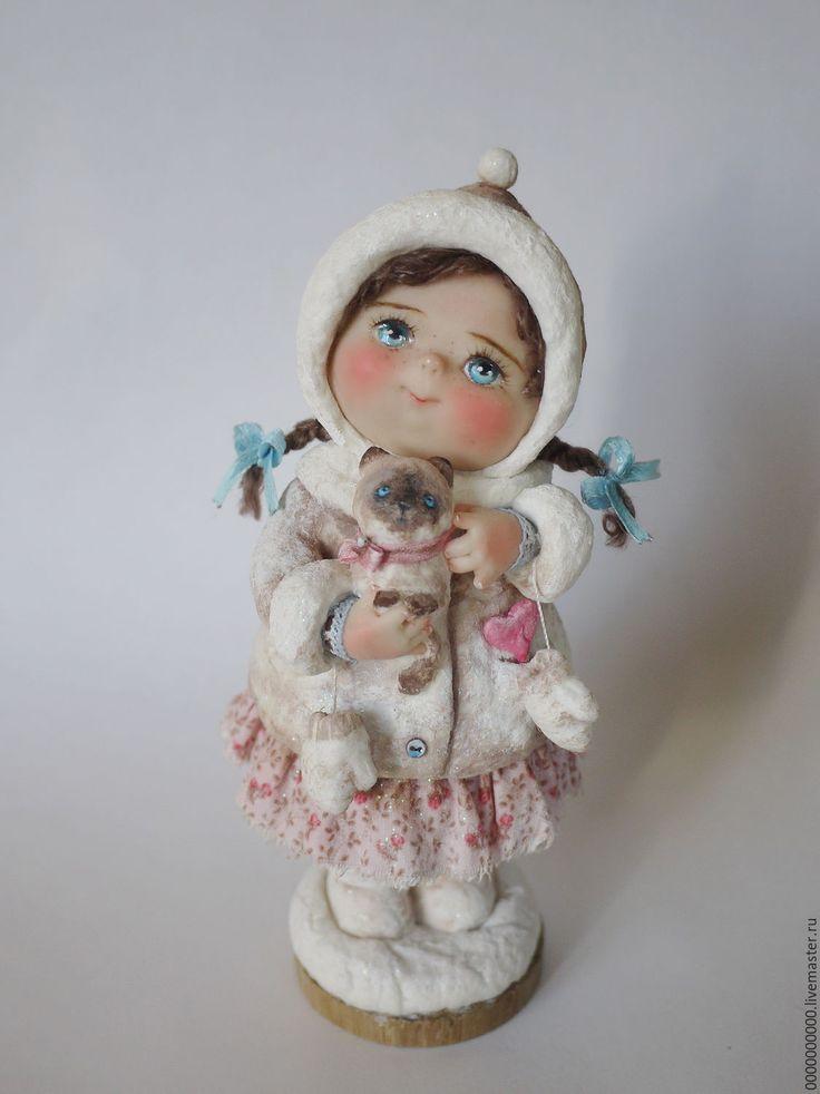 Купить Ксюша - авторская ручная работа, авторская кукла, декор для интерьера, интерьерная кукла