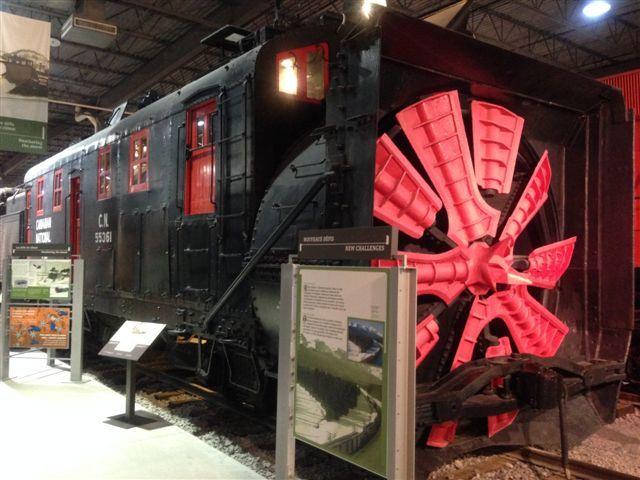 Chasse-neige rotatif / Rotary Snowplow CNR 55361 #exporail #trains #musée #museum