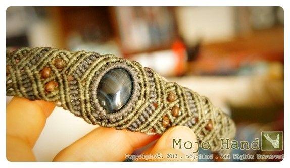 Tiger's eye 마크라메 팔찌 / 호안석 매듭팔찌 , 원석 매듭팔찌 _ 모조핸드 / Macrame : 네이버 블로그
