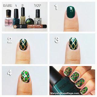 "! Maryam Maquillage !: ""Dazzling Anaconda"" Snake-Skin Nail Art!"