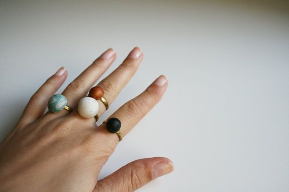 Black dot ring Simple jewelry#stack #ring #black #blackring