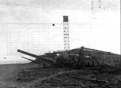 Constanta - Tunurile AA de 150mm (in total au fost 5 ) din cadrul bateriei LANGE Bruno din Faleza Nord - 1941