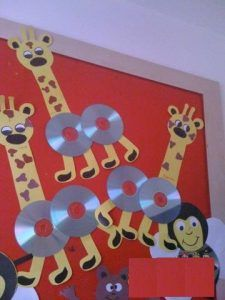 cd giraffe craft
