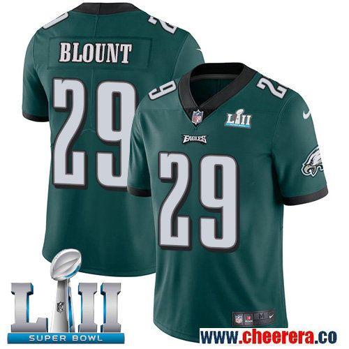 sale retailer 0ab6d 70307 Nike Eagles 29 LeGarrette Blount Green 2018 Super Bowl LII ...