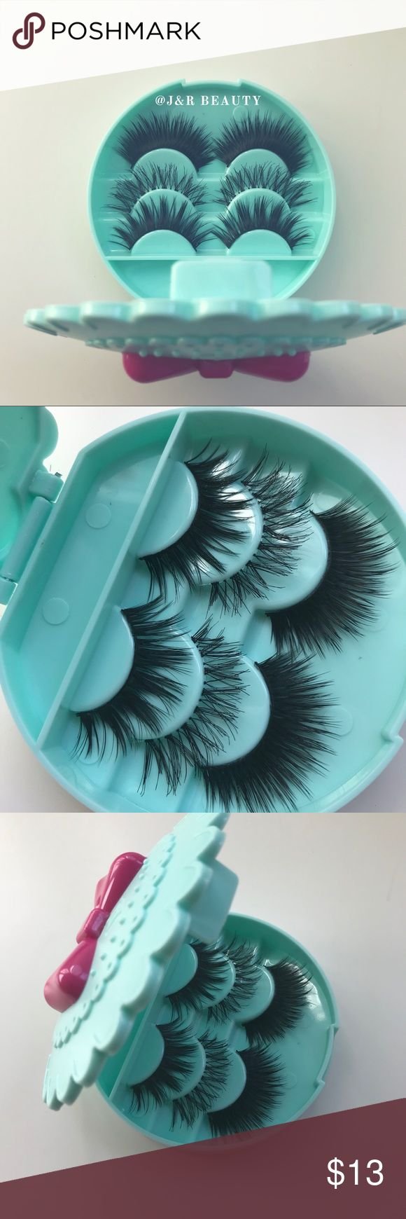 3 Eyelashes + Eyelash Case All brand new include ✨3 kinds of Wispy eyelashes  ✨Eyelash Case   +$2 Add on eyelash Applicator  +$3 Add on eyelash glue Please message me if you want to add them.    # tags Iconic, mink, red cherry eyelashes, house of lashes, doll, kawaii, case, full, natural,  Koko, Ardell, wispies, Demi , makeup,   Ship within 24 hours ❣️ Makeup False Eyelashes