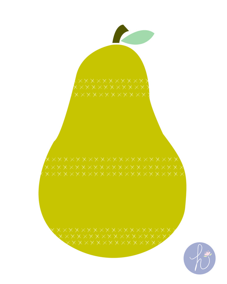 Nice Pear Wall Art Festooning - Wall Art Collections ...