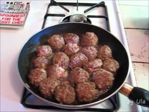 Polish Food - Meatballs with Mushroom Sauce - Polish Cuisine