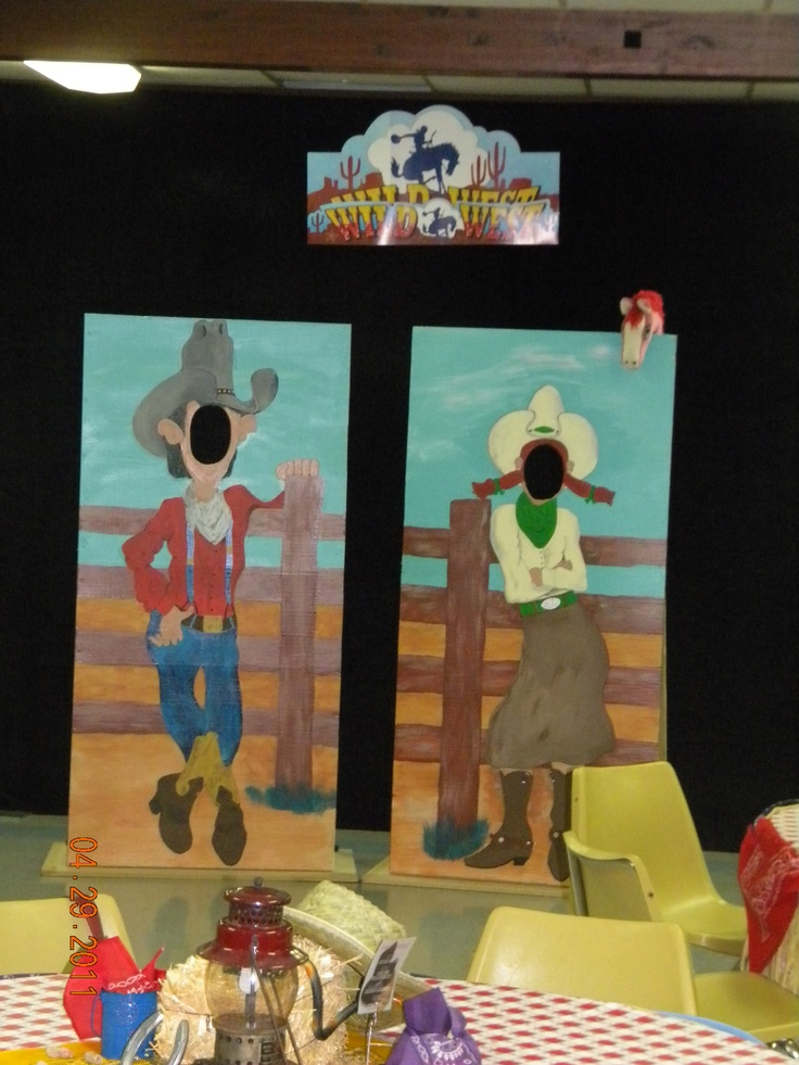 Western Party Theme - Photo props @Gaby Brummett. I can paint these!