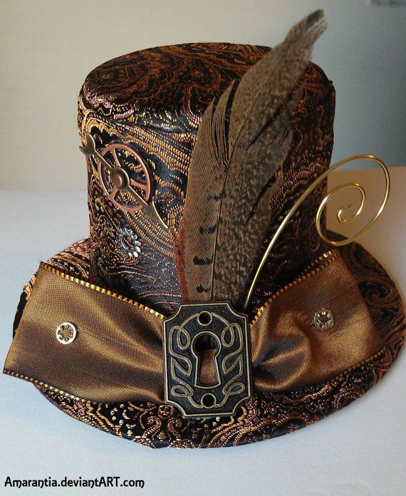 Timeless Steampunk mini Victorian top hat with by mysticarray