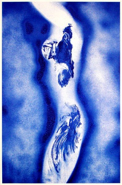 Yves Klein: Anthropométrie 148, c.1960.  Serigraphie -Lithographie.