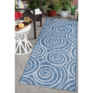 Shop for Alise Rugs Colonnade Indigo Transitional Area Rug (2'7'' x 7'3''). Get free shipping at Overstock.com - Your Online Home Decor Outlet Store! Get 5% in rewards with Club O! - 22224094