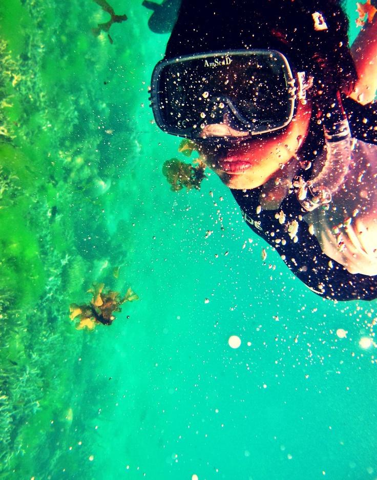 No tank, one breath, kiss the coral! Karimun Jawa, Indonesia